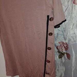 Thigh length blouse